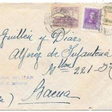 Sellos: EDIFIL 842 - 817. SOBRE CIRCULADO DE SANLUCAR A BAENA A ALFEREZ DEL 221 BATALLON. Lote 210467702