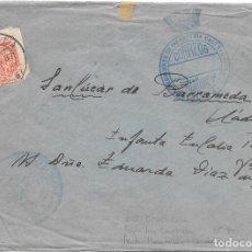 Sellos: SOBRE CIRCULADO DE MONTILLA A SANLUCAR. FRANQUICIA RGTO CASTILLA 1937. Lote 210468156