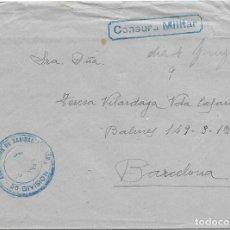 Sellos: SOBRE CIRCULADO DE LA 56 DIVISION A BARCELONA. AGRUPACION DE SANIDAD MILITAR. Lote 210468690