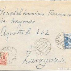 Sellos: EDIFIL 823 + CRUZADA CONTRA EL FRIO. DE CINTRUEÑIGO A ZARAGOZA. 1937. Lote 210471646