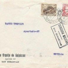 Sellos: EDIFIL 686 + CRUZADA CONTRA EL FRIO. DE SAN SEBASTIAN A SEVILLA. 1937. Lote 210472243