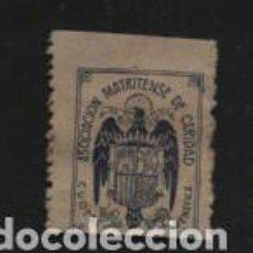 Sellos: MADRID,- CUOTA BENEFICA- ASOC. MATRITENSE DE CARIDAD.- VER FOTO. Lote 210488976