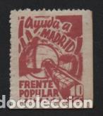RUZAFA- 10 CTS. AYUDA A MADRID.- VER FOTO (Sellos - España - Guerra Civil - Viñetas - Usados)