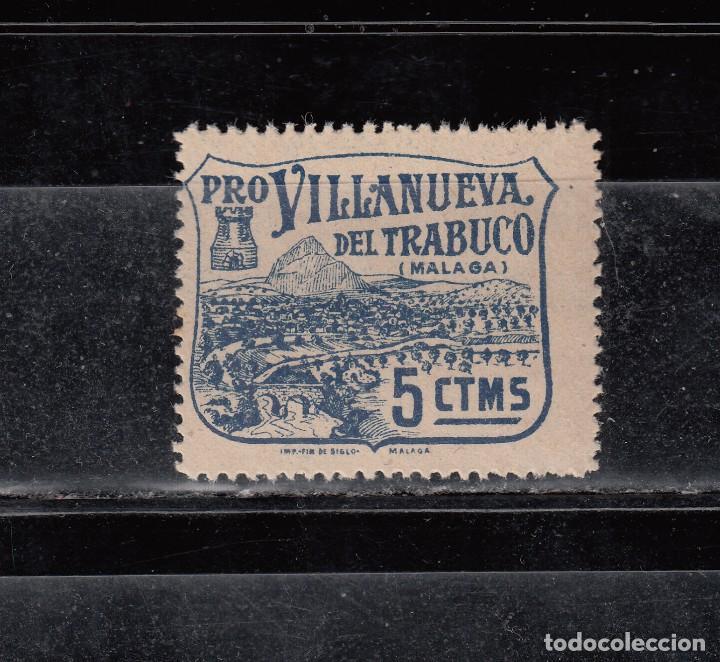 PRO-VILLANUEVA DEL TRABUCO. 5 CTS. (Sellos - España - Guerra Civil - Locales - Nuevos)