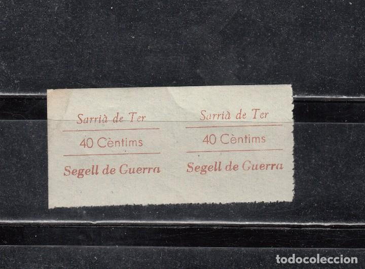 SARRIA DE TER. SEGELL DE GUERRA. PAREJA DE 40 CTS. (Sellos - España - Guerra Civil - Locales - Nuevos)