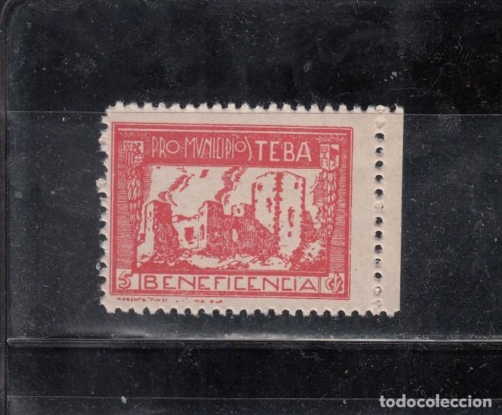 PRO-MUNICIPIOS. TEBA. BENEFICENCIA, 5 CTS. (Sellos - España - Guerra Civil - Locales - Nuevos)