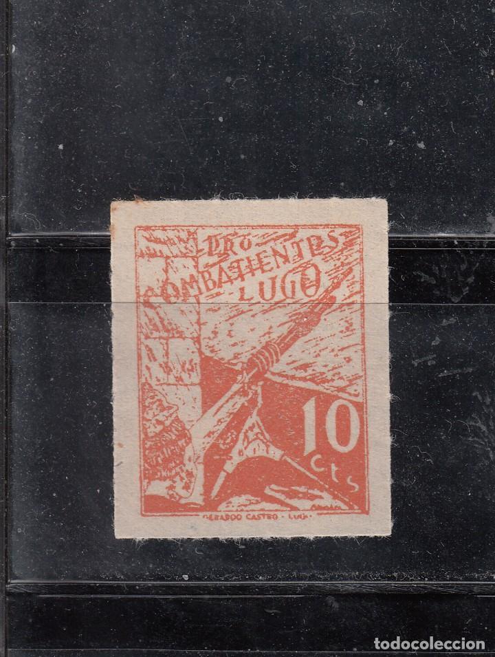 LUGO. PRO-COMBATIENTES. 10 CTS. (Sellos - España - Guerra Civil - Locales - Nuevos)