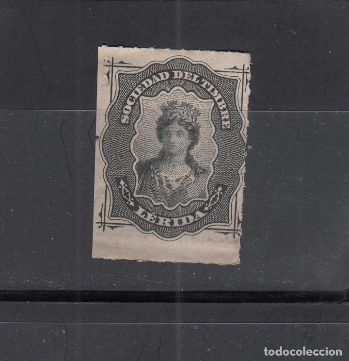 LERIDA. SOCIEDAD DEL TIMBRE (Sellos - España - Guerra Civil - Locales - Usados)