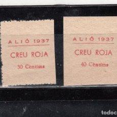 Sellos: ALIÓ. CREU ROJA. DOS SELLOS DE 30 Y 40 CTS.. Lote 210726869