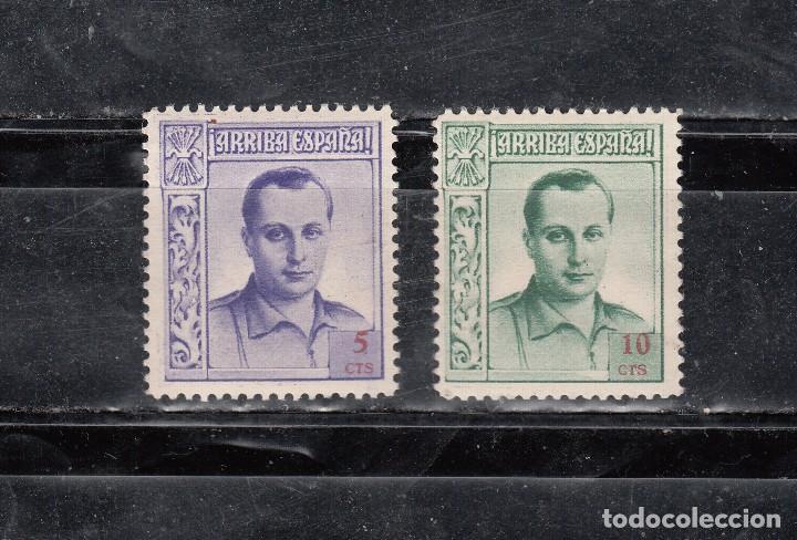 ARRIBA ESPAÑA. JOSE ANTONIO. DOS SELLOS DE 5 Y 10 CTS. (Sellos - España - Guerra Civil - Viñetas - Nuevos)
