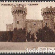 Sellos: JUNTA PROVINCIAL TURISMO - GERONA.-7 ''PERELADA - CASTILLLO''./ ANVERSO LUJO.. Lote 211258231