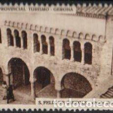 Sellos: JUNTA PROVINCIAL TURISMO - GERONA.-8 ''S. FELIU DE GUIXOLS - PUERTA FERRADA''./ ANVERSO LUJO.. Lote 211259244