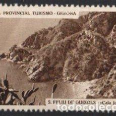 Sellos: JUNTA PROVINCIAL TURISMO - GERONA.-19 ''S. FELIU DE GUIXOLS - CALA JOANA''./ ANVERSO LUJO.. Lote 211272952