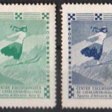 "Sellos: RIBES 1913: ''CENTRE EXCURSIONISTA DE CATALUNYA""./ SER. COMPLETA, SIN CIRCULAR,/ RARA.. Lote 211277170"