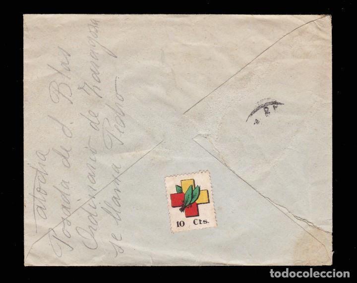 Sellos: *** CARTA BARCO DE AVILA-MADRID 1939. FECHADOR AZUL Y CENSURA BARCO DE AVILA (ROJO) EDIFIL 917 *** - Foto 2 - 211489375