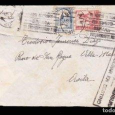 Sellos: * CARTA 1937 SEVILLA-ÁVILA. PENDIENTE DE CENSURA, CENSURAR EN DESTINO + LOCAL SEVILLA Y EDIFIL 823 *. Lote 211498930