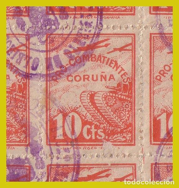 GRAN PIEZA. PAGO CONTRIBUCIÓN TERRITORIAL OLEIROS. LA CORUÑA (O) 100 SELLOS LOCALES Y BENEFICENCIA (Sellos - España - Guerra Civil - Locales - Usados)