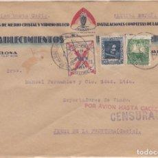 Sellos: CARTA DE PALMA DE MALLORCA A JEREZ CON FRANQUEO REPÚBLICA Y LOCAL MALLORCA. ,. Lote 211573689