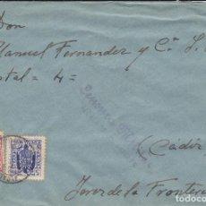 Sellos: CARTA DE ALCALA DE LOS GAZULES A JEREZ, CON FISCALES Y CENSURA A-25-2. Lote 211574840