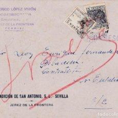 Sellos: CARTA DE JEREZ CORREO INTERIOR CON 816B Y SELLO FISCAL. Lote 211587810