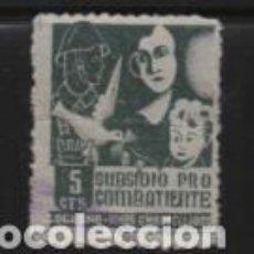 Selos: LOGROÑA, 5 CTS. SUBSIDIO PRO COMBATIENTE- VER FOTO. Lote 211723079