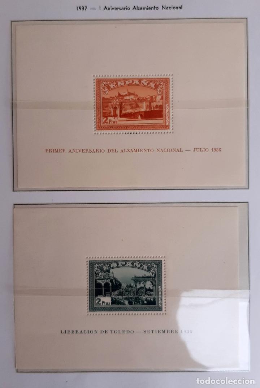 HOJITAS GUERRA CIVIL ALZAMIENTO NACIONAL Y LIBERACION DE TOLEDO 1937 ORIGINAL (Sellos - España - Guerra Civil - De 1.936 a 1.939 - Nuevos)