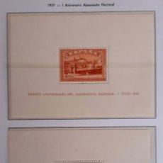 Sellos: HOJITAS GUERRA CIVIL ALZAMIENTO NACIONAL Y LIBERACION DE TOLEDO 1937 ORIGINAL. Lote 211769055