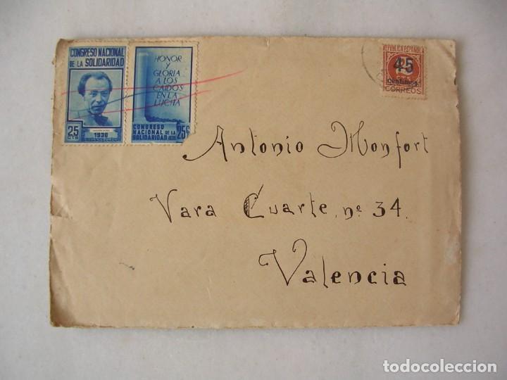 CARTA CON VIÑETAS, REMITIDA DESDE EL FRENTE REPUBLICANO, 105 BRIGADA MIXTA, GUERRA CIVIL (Sellos - España - Guerra Civil - De 1.936 a 1.939 - Cartas)