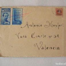 Sellos: CARTA CON VIÑETAS, REMITIDA DESDE EL FRENTE REPUBLICANO, 105 BRIGADA MIXTA, GUERRA CIVIL. Lote 211820591