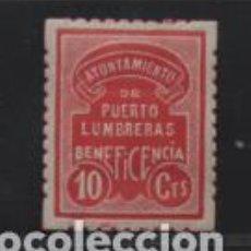 Sellos: PUERTO LUMBRERAS.- MURCIA- 10 CTS- BENEFICENCIA- VER FOTO. Lote 212066147