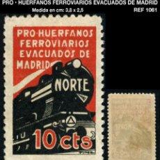 Selos: VIÑETA - PRO • HUERFANOS FERROVIARIOS EVACUADOS DE MADRID - REF1061. Lote 212218083