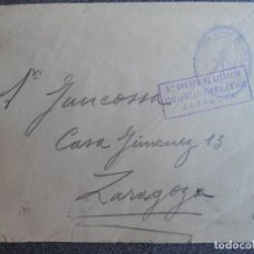 Sellos: GUERRA CIVIL CARTA AÑO 1937 RARO SELLO LEGIÓN - BANDERA JUANA DE ARCO Y CENSURA 5º EJÉRCITO ARAGÓN. Lote 212627140