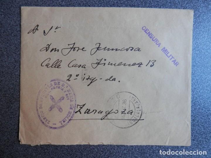 GUERRA CIVIL CARLISMO SELLO TERCIO REQUETÉS EN MOLINA DE ARAGÓN AÑO 1938 CENSURA DESDE EL FRENTE (Sellos - España - Guerra Civil - De 1.936 a 1.939 - Cartas)