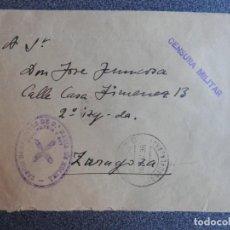 Sellos: GUERRA CIVIL CARLISMO SELLO TERCIO REQUETÉS EN MOLINA DE ARAGÓN AÑO 1938 CENSURA DESDE EL FRENTE. Lote 212666473