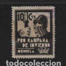 Sellos: ORIHUELA,- 10 CTS.--PRO CAMPAÑA DE INVIERNO- VER FOTO. Lote 213008972