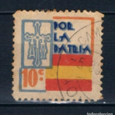 Selos: GUERRA CIVIL. ASTURIAS. POR LA PATRIA. 10 C. º LOT014. Lote 213075201