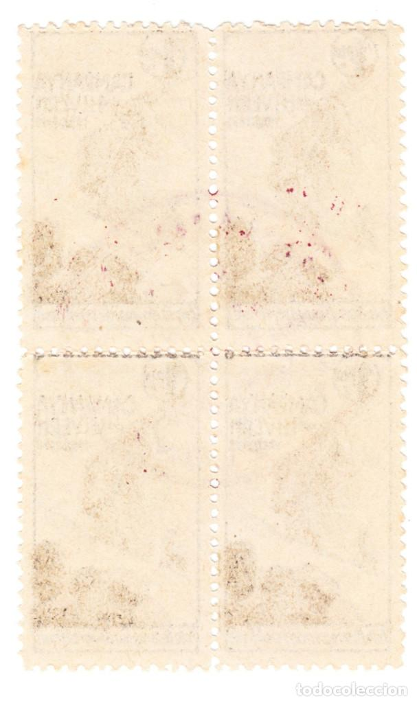 Sellos: BLOQUE DE 4 CAMPANYA DE HIVER 1 PTAS 1938-39 - Foto 2 - 213360685