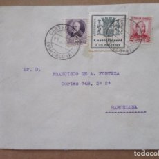Timbres: 1937 CIRCULADA DE CASTELLTERSOL A BARCELONA CON SELLO LOCAL. Lote 213521297