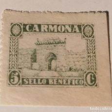 Sellos: CARMONA. SEVILLA. SELLO BENÉFICO. 5 CENTIMOS. Lote 213750251