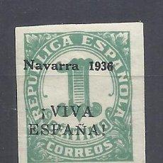 Sellos: CIFRA 1936 SOBRECARGADO NAVARRA VIVA ESPAÑA EDIFIL 1 NUEVO*. Lote 214104545