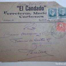 Sellos: GUERRA CIVIL SOBRE AÑO 1937 LOJA GRANADA ABIERTA POR LA CENSURA Y SELLO LOCAL. Lote 214190003