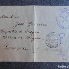 Sellos: GUERRA CIVIL CARLISMO AÑO 1937 TERCIO DE REQUETÉS Mª DE MOLINA Y CENSURA LUJO. Lote 214693912