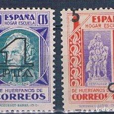 Sellos: ESPAÑA BENEFICENCIA PEDAGOGOS 47/48 MNH**. Lote 215197663