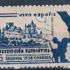 Francobolli: ESPAÑA PRO SEGOVIA SUS. PATRIOTICA MNH/**. Lote 215198385