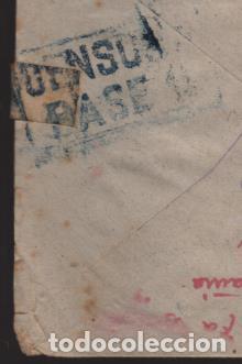 CARTA AL COMITE CRUZ ROJA -BARCELONA- CENSURA BASE 11- VER FOTOS (Sellos - España - Guerra Civil - Locales - Cartas)