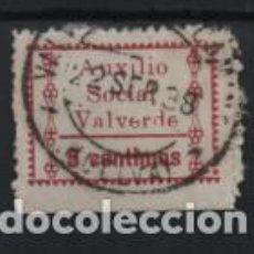 Sellos: VALVERDE DEL CAMINO.-HUELVA- 5 CTS,- AUXILIO SOCIAL- 5 CTS. VER FOTO. Lote 215325206