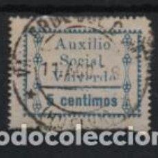 Sellos: VALVERDE DEL CAMINO.-HUELVA- 5 CTS,- AUXILIO SOCIAL- 5 CTS. VER FOTO. Lote 215325293