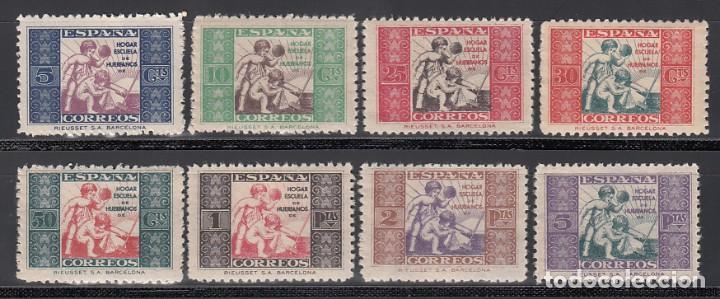 BENEFICENCIA, 1934 EDIFIL Nº 1 / 8 **/* ALEGORÍA INFANTIL (Sellos - España - Guerra Civil - Beneficencia)