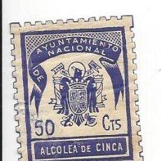 Sellos: VIÑETA / SELLO / TIMBRE, AYUNTAMIENTO NACIONAL DE ALCOLEA DE CINCA ( HUESCA). GUERRA CIVIL. Lote 215633453