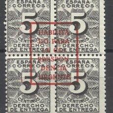 Selos: BURGOS HABILITADO CORRESPONDENCIA URGENTE 1937 EDIFIL 23 NUEVO**. Lote 216418711